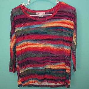 Long sleeve multi colored T-SHIRT